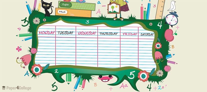 Cute Study Schedule