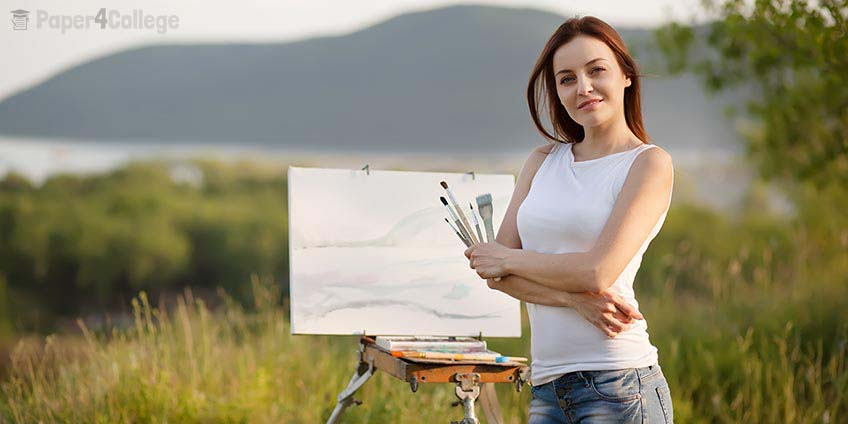 Girl Painting a Picture