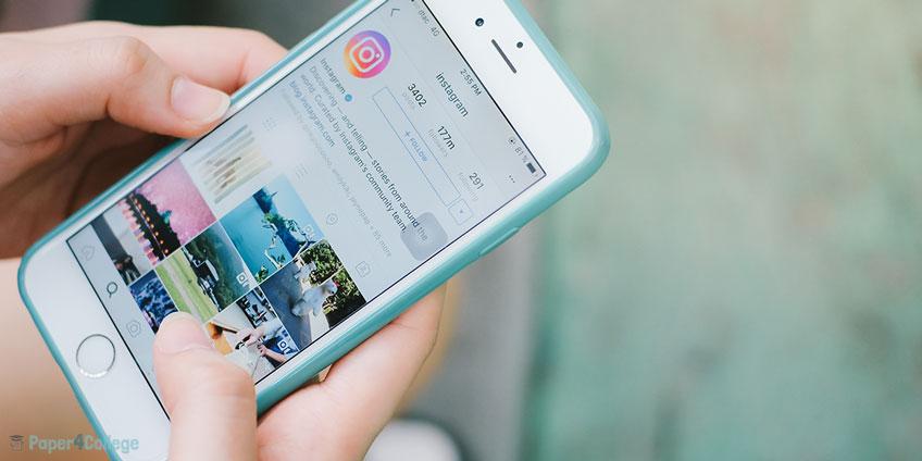 Girl Scrolling Instagram