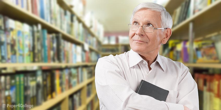 Old Man with Book