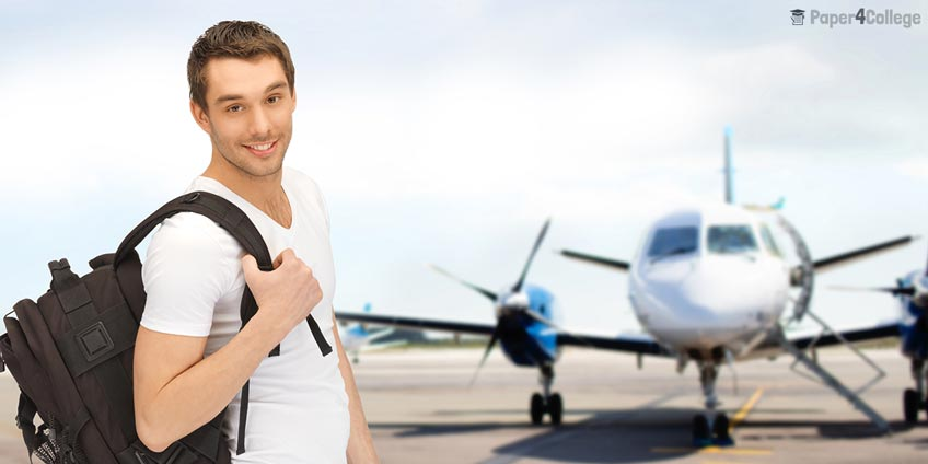 Student at Airport
