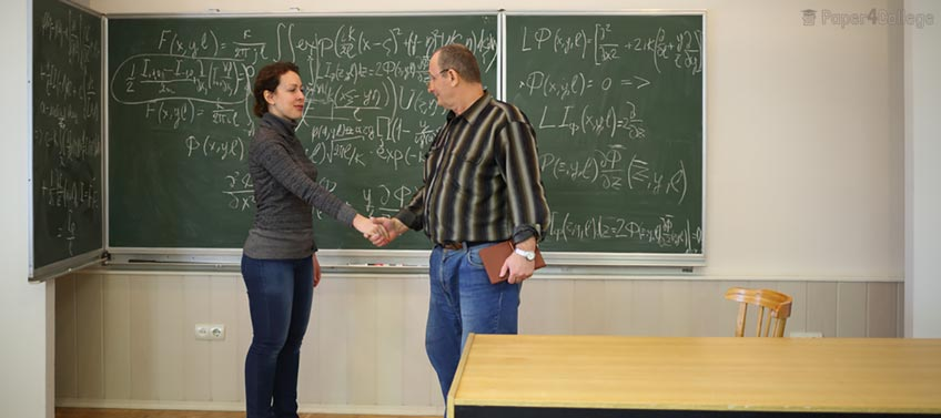 Student and Professor Shaking Hands