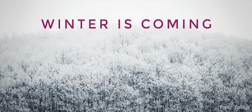 Winter Is Coming Text